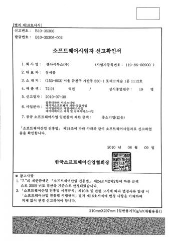 Software Business—Confirmation of Registration